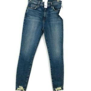 CURRENT ELLIOTT THE SUPER HI-WAIST STILETTO Jeans